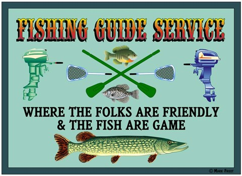 Framed Fishing Guide Service 2 Print