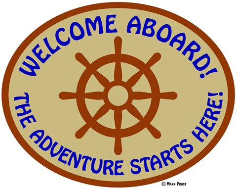 Framed Welcome Aboard Adventure Print