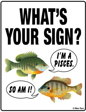 Framed What's Your Sign Print