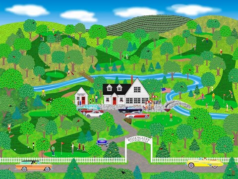 Framed Fine Day For Golf Print
