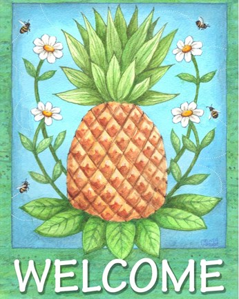 Framed Pineapple Welcome Print