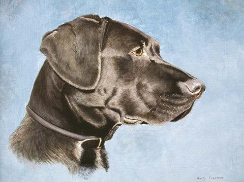 Framed Chocolate Lab Print
