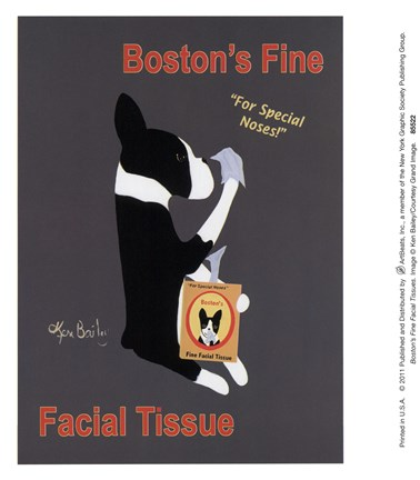 Framed Boston's Fine Facial Tissues Print