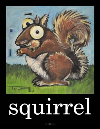 Framed Squirrel Poster Print