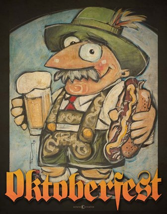 Framed Oktoberfest Guy Print