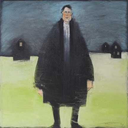 Framed Man In Black Coat Print