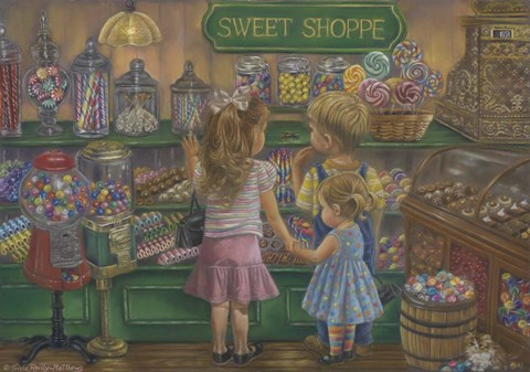 Framed Candy Heaven Print