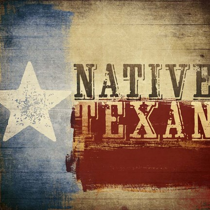 Framed Native Texan Print