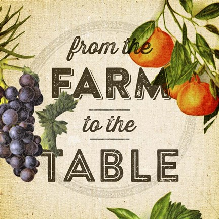 Framed Farm To Table I Print