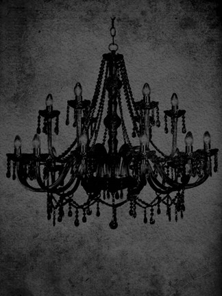 Framed Chandelier IV Print