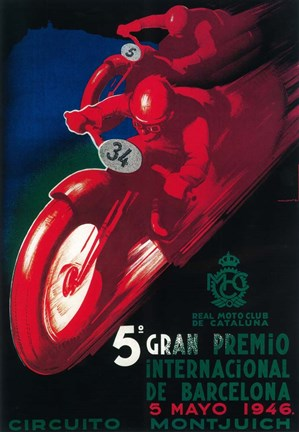 Framed 5th Gran Premio Print