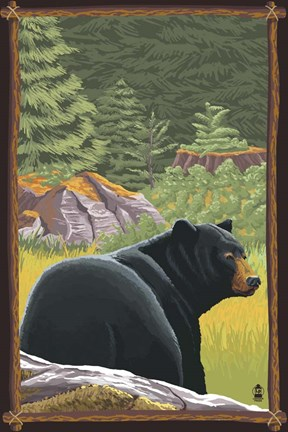 Framed Black Bear 1 Print