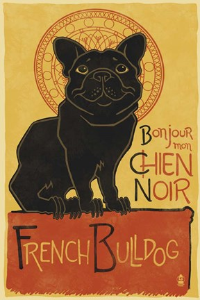 Framed French Bulldog Print