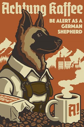 Framed German Shepherd Print