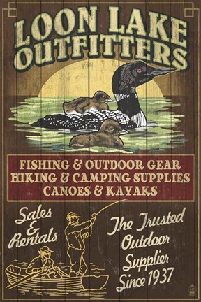 Framed Loon Lake Outfitters Print