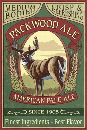 Framed Packwood Ale Print