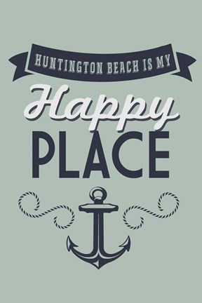 Framed Huntington Beach Print