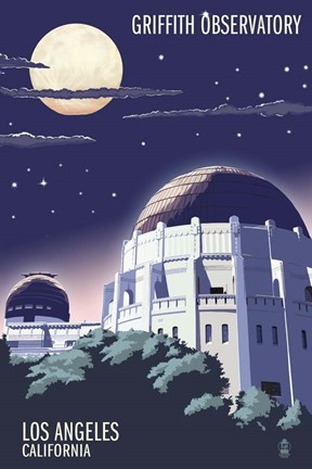 Framed Griffith Observatory Print