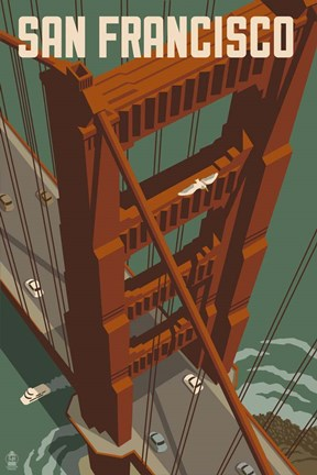 Framed Golden Gate Bridge Print