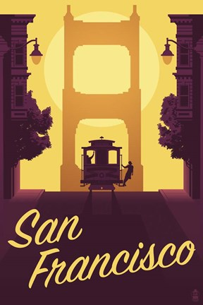 Framed Cable Car Print