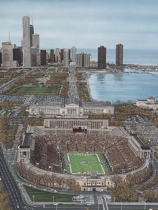 Framed Chicago's Soldier Field Print