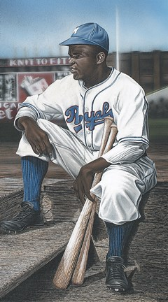 Framed Jackie Robinson Minor League Royals Print