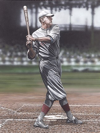 Framed Babe Ruth as a Red Sox Print