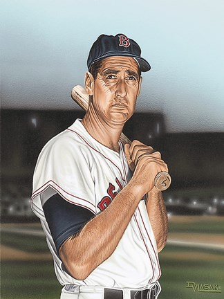 Framed Ted williams Portrait Print