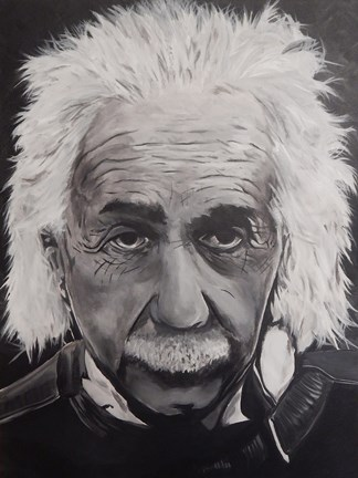 Framed Albert Einstein Print