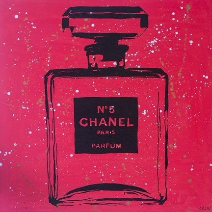 Framed Chanel Pop Art Rosey Chic Print