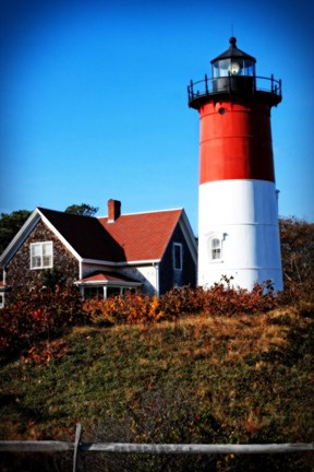 Framed Nauset Light House Print