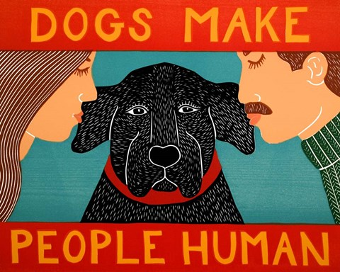 Framed Dogs Make People Human Print