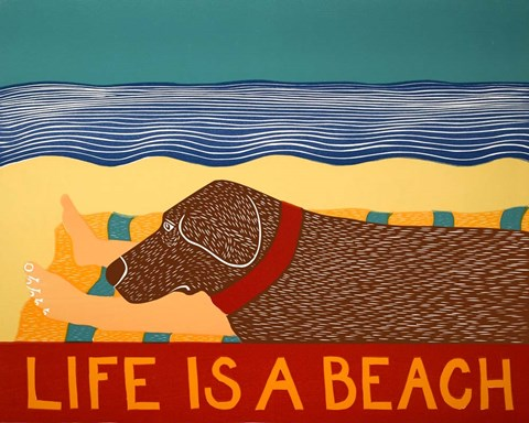 Framed Life Is A Beach Choc Print