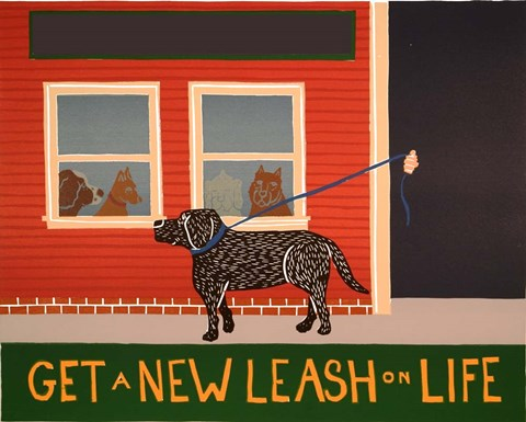 Framed New Leash On Life Open Text Print