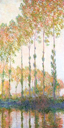 Framed Poplars on the Banks of the Epte, Autumn, 1891 Print