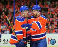 Connor McDavid & Taylor Hall 2015-16 Action  Fine Art Print