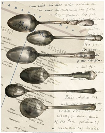 Framed Cutlery Spoons In Sepia Print