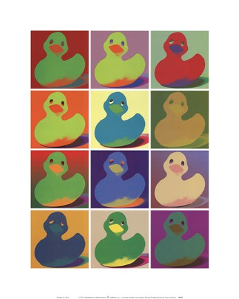 Framed Pop Art Ducky Print