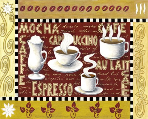 Framed Coffee Montage Print
