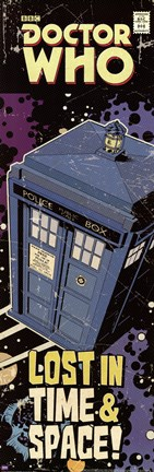 Framed Doctor Who - Tardis Comic Cover Print