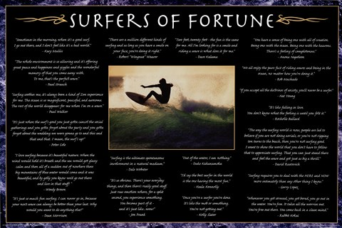 Framed Surfers Of Fortune Print