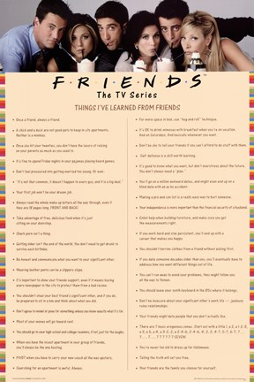 Framed Friends - Things I Learned Pink Print