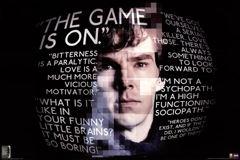 Framed Sherlock - Quotes Print