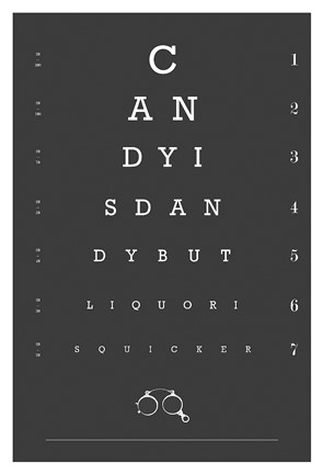Framed Eye Chart Candy Print