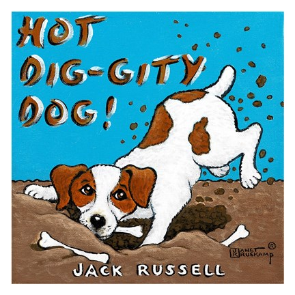 Framed Hot Dig-Gity Dog! Print