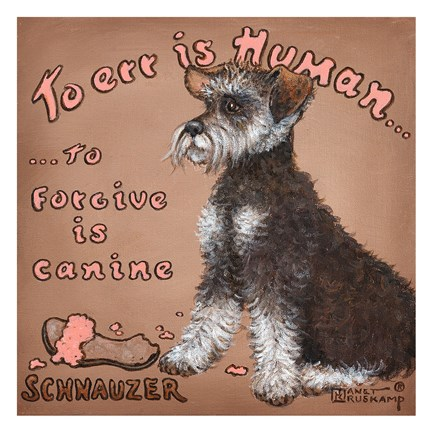 Framed To Forgive Is Canine Print