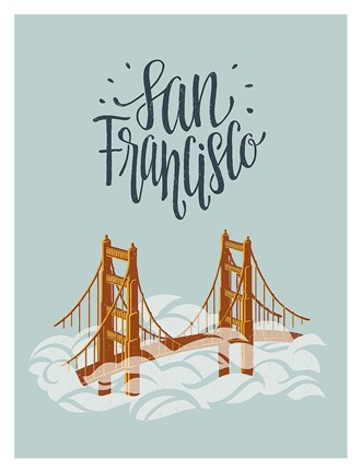 Framed San Francisco Travel Print
