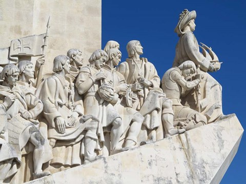 Framed Monument To The Discoveries, Belem, Lisbon, Portugal Print