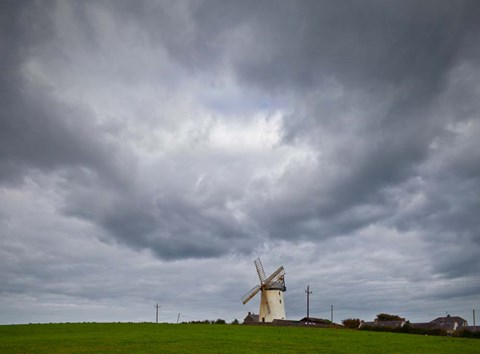 Framed Ballycopeland Windmill, built circa 1800 and still working, Millsile, County Down, Ireland Print