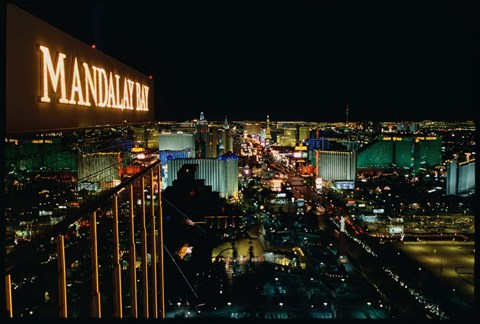 Framed Mandalay Bay Resort And Casino, Las Vegas, Clark County, Nevada Print
